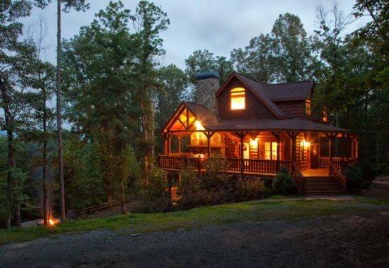 Cabin at dusk - Fireside Lodge - Ellijay GA - Ellijay - rentals