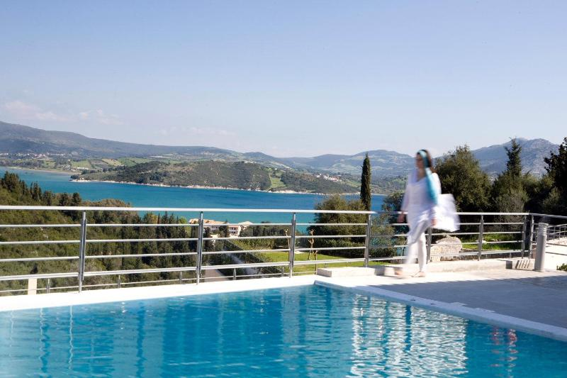 Luxury modern apartment with swimming pool, sea views, playground, BBQ - Image 1 - Lefkas - rentals
