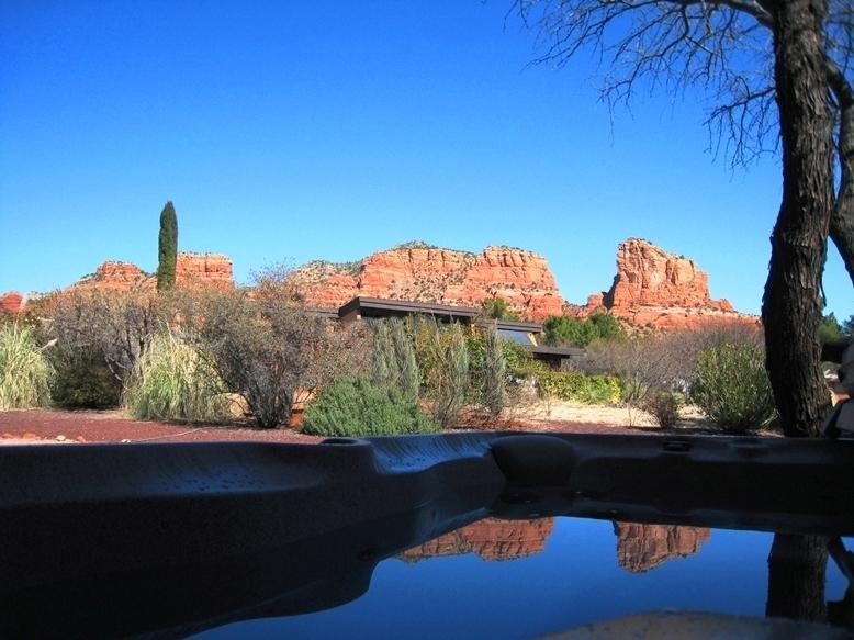 Red Rock View from Hot Tub - October Now Open-Reviews say It All, All Amenities - Sedona - rentals