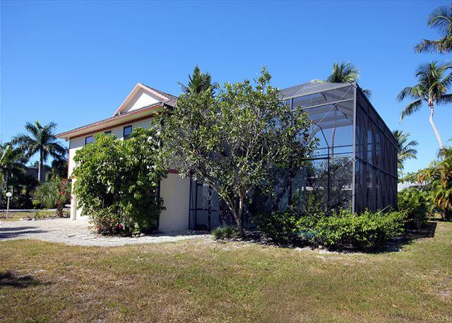 Exterior - Rear - Stilted home with pool in West Rocks - Sanibel Island - rentals