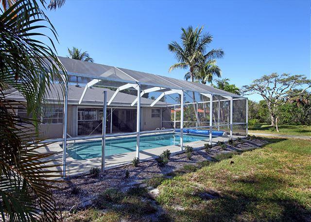 Exterior - Rear - Ground level home in West Rocks - Sanibel Island - rentals