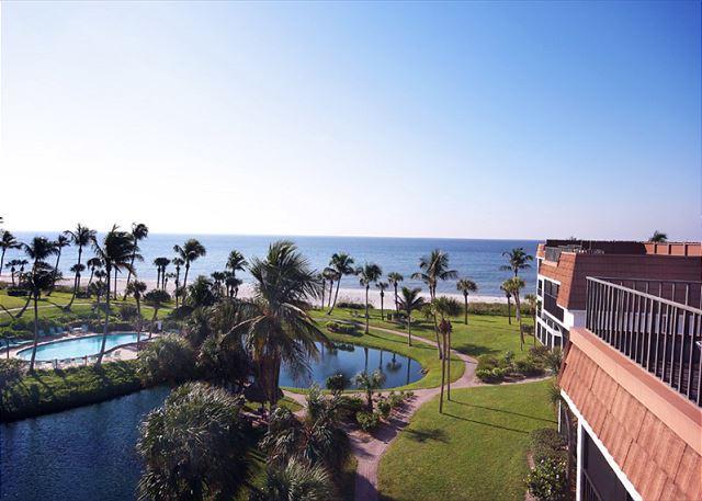 Gulf View from Sun Deck - Gulf view penthouse at Pointe Santo de Sanibel - Sanibel Island - rentals