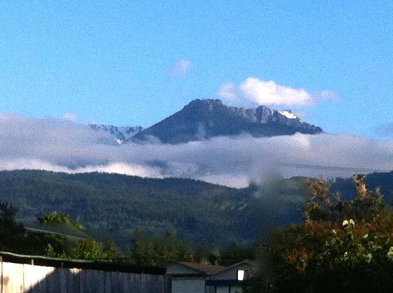 View of the Olympic Mountains from the Bike Cottage - Bike Cottage, One Bedroom In Town - Port Angeles - rentals