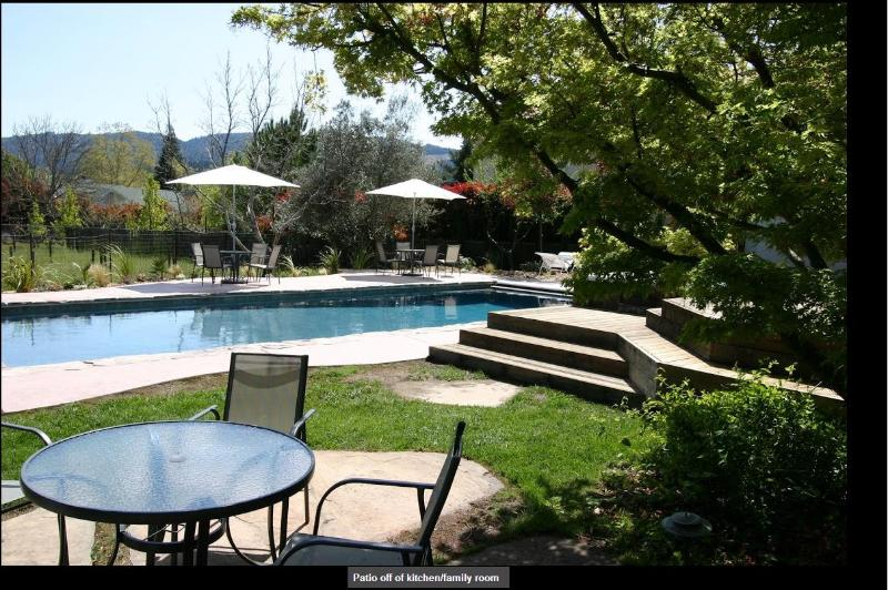 Garden with Pool off Family Room - Private Retreat near Vineyards - Calistoga - rentals