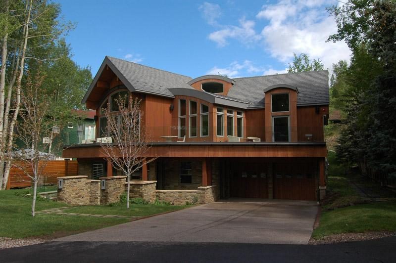 Exterior from the front of the home - Luxury in the Heart of Aspen - Aspen - rentals