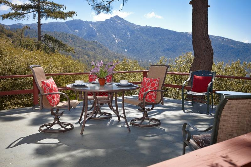 """Spacious Deck with Monument View of Lily Rock - The Beautiful """"Sunset Perch"""" - Pine Cove - rentals"""