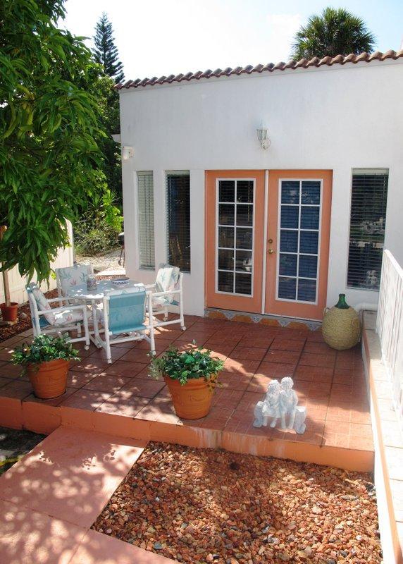 Welcome to Esperia! -  Patio Entrance - Esperia - Mediterranean Style Guest Apartment - Tarpon Springs - rentals
