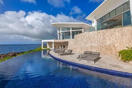 Oceanfront Beauty with Asian Flair, Volcanic Rock, Grotto - Villa Kishti - Image 1 - Limestone Bay - rentals
