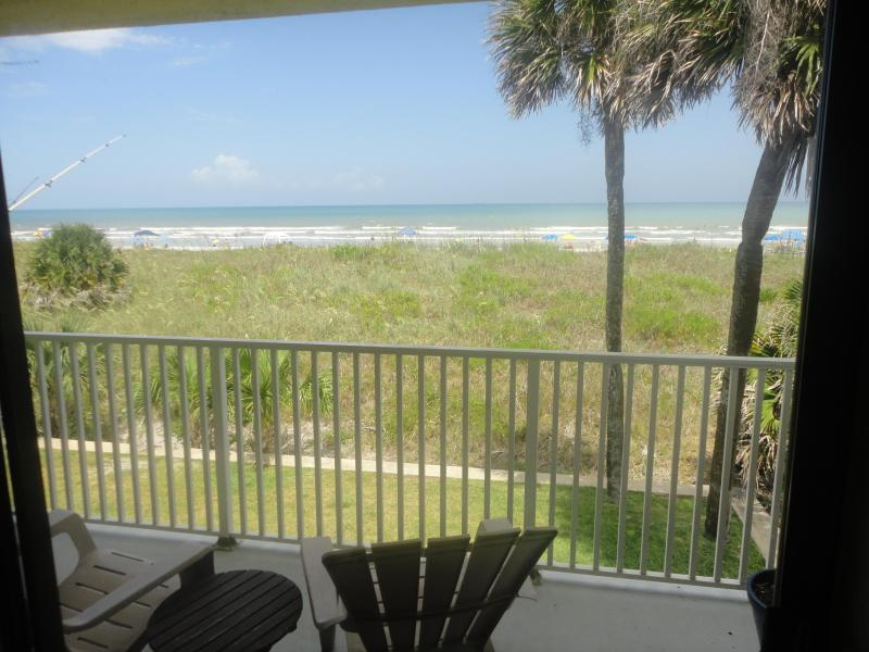 the view from our balcony and living room - Direct Beach Front Condo, Balcony, Great Views & B - Cocoa Beach - rentals
