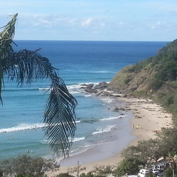 View of Wategos Beach from Apartment - Awesome Views Wategos Beach & Byron Bay Lighthouse - Byron Bay - rentals