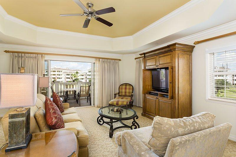 This extremely large living area provides ample space and seating for family gatherings - Sunset View - Luxury Reunion Condo - Reunion - rentals