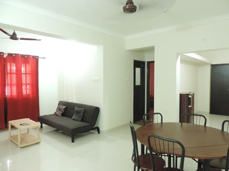 Living Room - 1BHK Apartment Green Palm Holiday Homes - Candolim - rentals