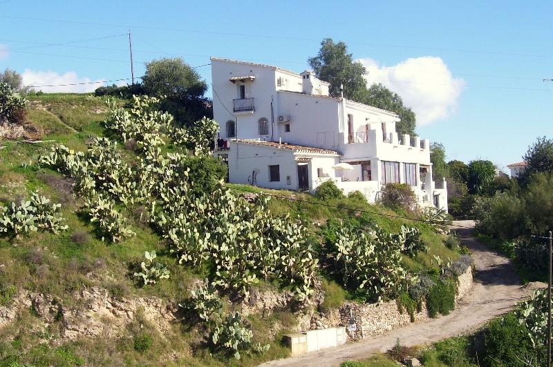 La Meseta from the road - HUGE VILLA IN PRIME LOCATION.  POOL & SEA VIEWS - Bedar - rentals