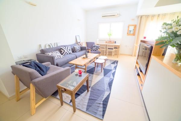 3 bedroom apartment on Ruppin Street 5 min walk to the beach - Image 1 - Tel Aviv - rentals