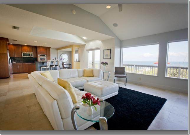 Beautiful Ocean View From Living Room - Casa Vedra Oceanfront Home -The Art of Living Well - Ponte Vedra Beach - rentals
