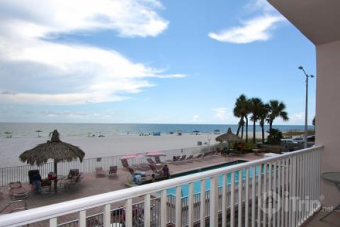 View from balcony overlooking the pool - 107 - Sea Breeze - Madeira Beach - rentals
