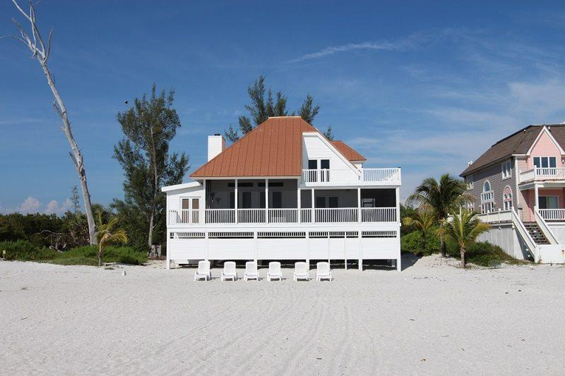 Property viewed from the beach - Villa Beach Mansion - Cape Coral - rentals