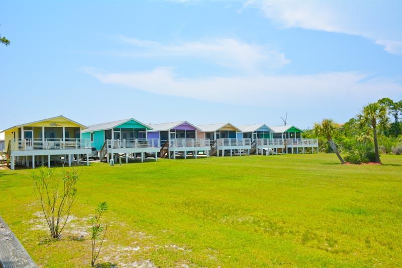 View of the villas - SCVilla #2. Bay front, Pet Friendly, Fishing pier! - Cape San Blas - rentals