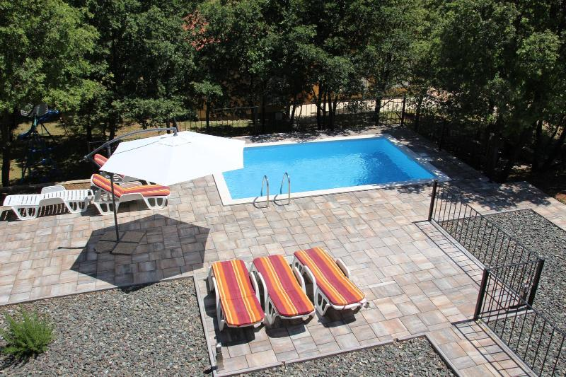 View of Pool from double bedroom - Contemporary 2 storey house with private pool - Labin - rentals