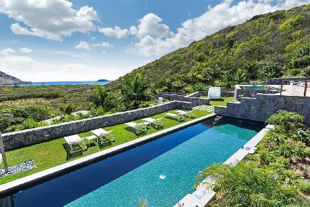 Spacious Dunes villa with two heated pools, graded terraces & walk to Saline Beach - Image 1 - Grande Saline - rentals