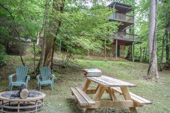 OUR FAVORITE PLACE- 2BR/2BA- CREEK FRONT CABIN SLEEPS 8, SAT TV, PRIVATE HOT TUB, GAS GRILL, GAS LOG FIREPLACE, KING BED IN MASTER SUITE, PET FRIENDLY! ONLY $99/NIGHT! - Image 1 - Blue Ridge - rentals