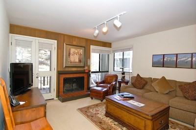 Living Room  - Cottonwood 1445-Sun Valley Resort Condo - Sun Valley - rentals