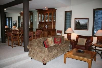 Living Area - Prospector Condo at Warm Springs Ski Lifts - Ketchum - rentals