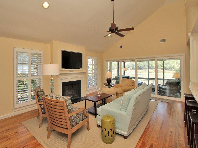 Living Room at 38 Lands End Road - 38 Lands End Road - Sea Pines - rentals