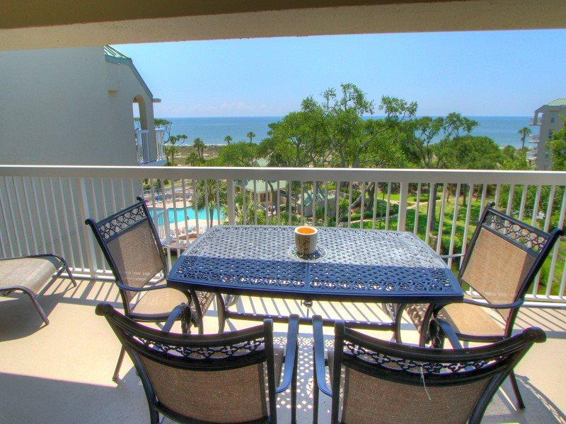 Balcony with View at 507 Barrington Arms - 507 Barrington Arms - Palmetto Dunes - rentals