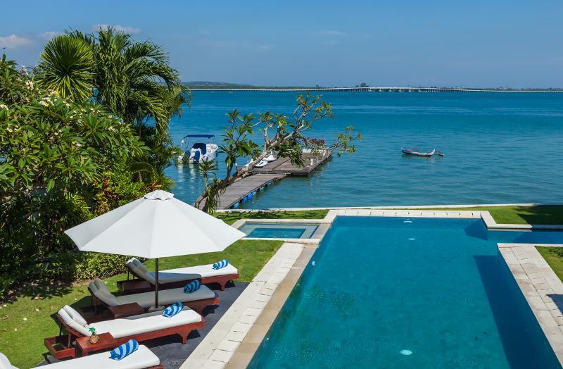 Master balcony views - Waterfront villa Sunset. HOT 1-, 2- & 3-bdr rates. - Nusa Dua - rentals