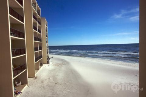 As beach front as you can get! - Stylish Beachfront Condo with Phenomenal Scenery and Pool - Panama City Beach - rentals