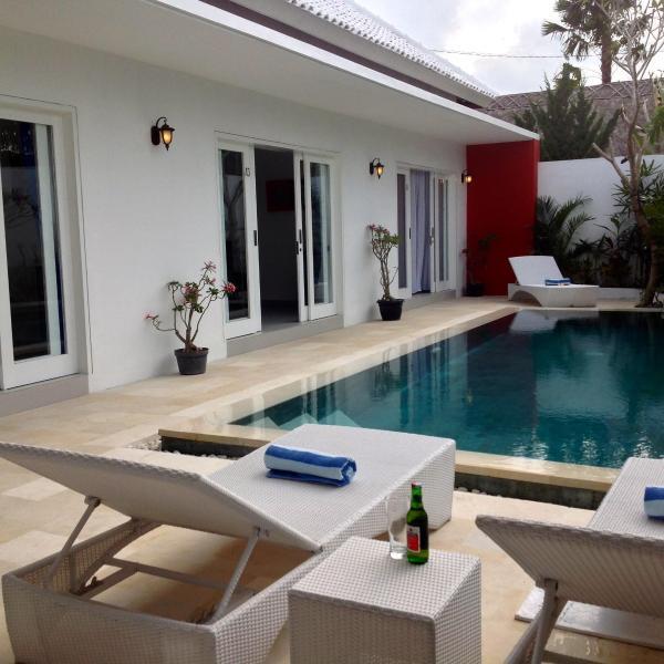 Pool deck from lounge - Bali 3 Bedroom Villa - Berawa Beach! - Bali - rentals