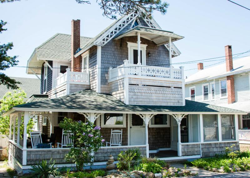 Street view - Updated & elegant w/ WATERVIEW, 1 block from beach - Oak Bluffs - rentals