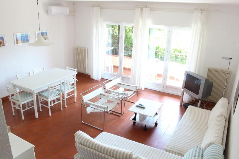 Living Room - Fully air condition flat , WIFI and swimming pool - Malcesine - rentals