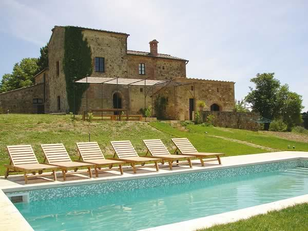 Property exterior and pool - Luxury 4-5 bedroom villa in Tuscany - BFY13237 - Asciano - rentals