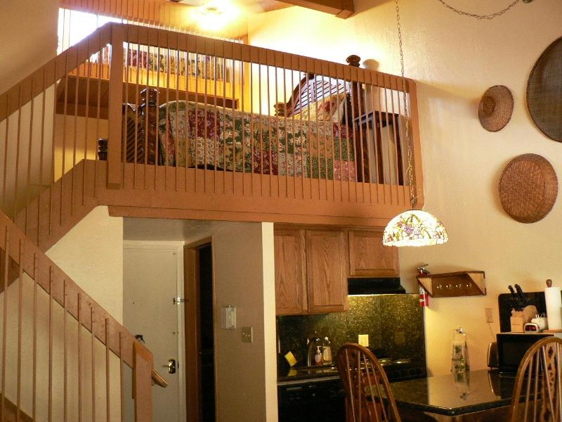 View of your dining area/kitchen and loft above. - Yosemite West Condo - Inside The Park! Sleeps 7!!! - Yosemite National Park - rentals