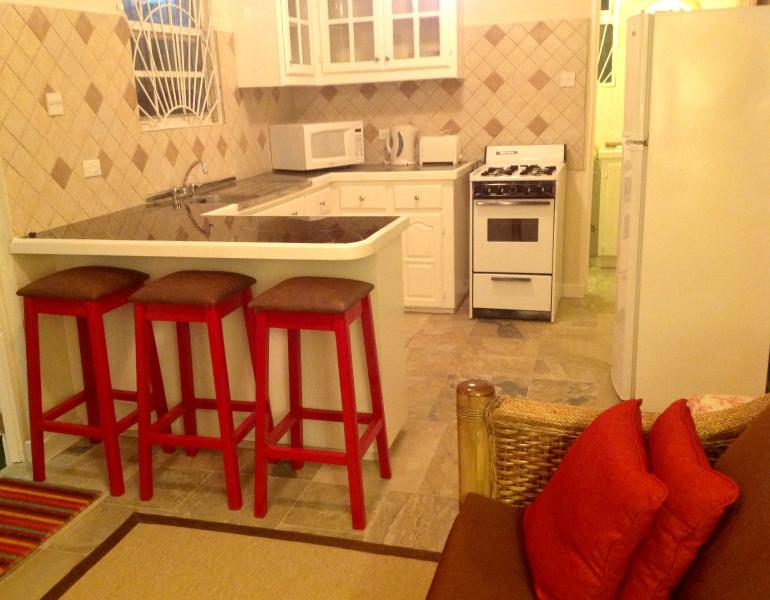 Kitchen with breakfast bar - Two Minutes From The Beach -  LITTLE GATES ( One Bedroom Apartment) - Christ Church - rentals
