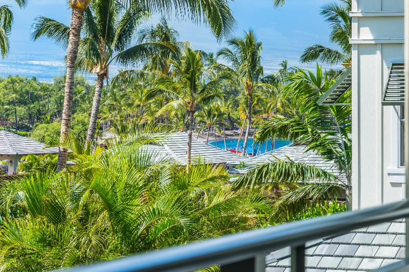 Left view from Patio - Kolea Condo 9E - Partial Ocean Views - Newly Renovated - Cleaning Included - Waikoloa - rentals