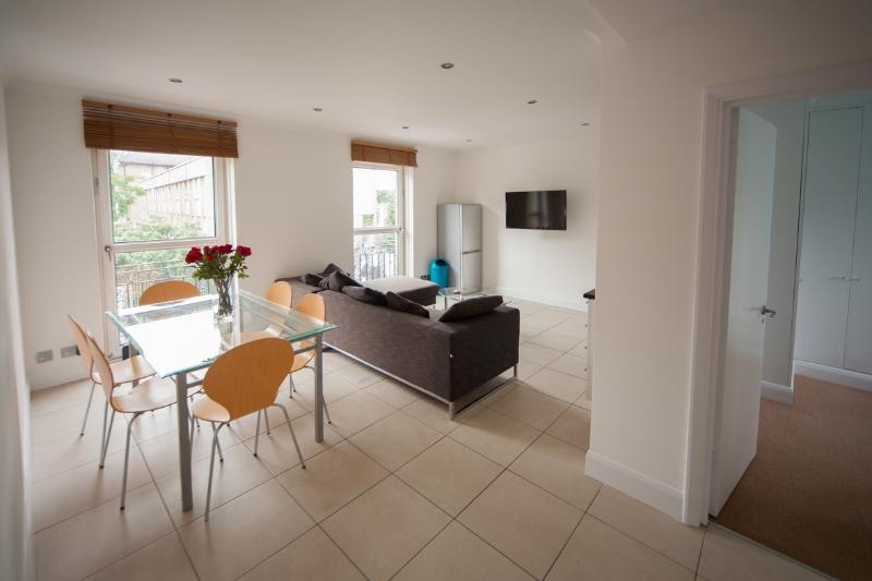 Spacious and Bright Lounge Area With Open Plan Kitchen - Modern 3 Bedroom Apartment in London Zone 1 - London - rentals