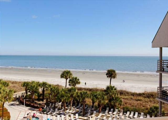 "Balcony View - ""Wow Factor"" Newly Renovated 2BR/2BA Villa with Outstanding Oceanfront Views - Hilton Head - rentals"