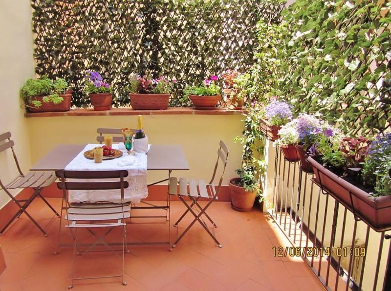 terrace - Relaxing 2 Bedroom Apartment Rental in Florence - Florence - rentals