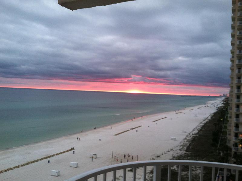 View of shoreline from balcony - Shores of Panama - Wrap around end unit #829 - Panama City Beach - rentals