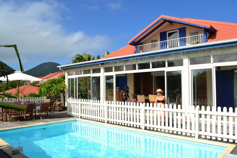 the pool and the house - B and B. Orient Bay beach, pool, jacuzzi - Orient Bay - rentals