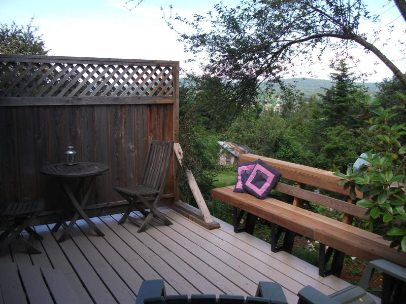 Private Deck just outside the bedroom - Sparrow Haven  ~ Peaceful Comfort Close to Town! - Salt Spring Island - rentals