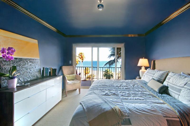 Bedroom 1 with beautiful ocean views - Beachside Retreat - Santa Barbara - rentals