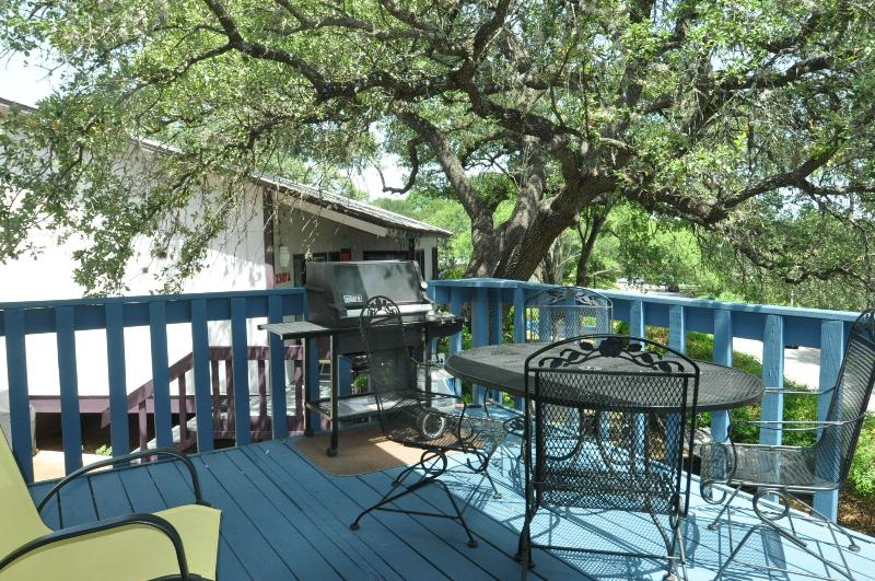Propane gas grill and table with 4 chairs. - LOOK: Park Place - 2/1 by Zilker, 2 mi to DT! - Austin - rentals