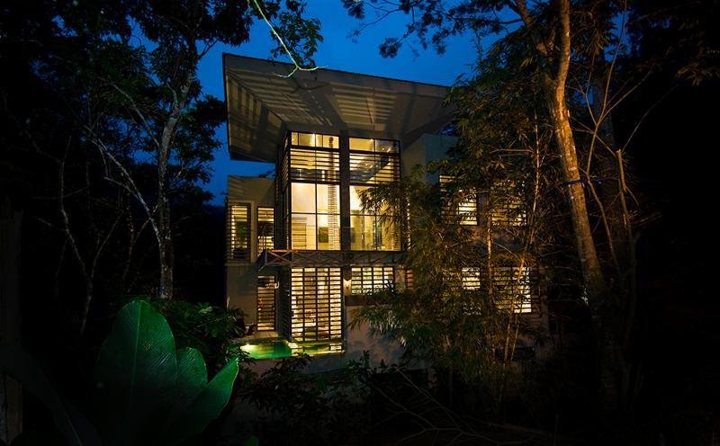 Night view of Casa de Agua - Casa de Agua- Style in the Jungle - Manuel Antonio National Park - rentals