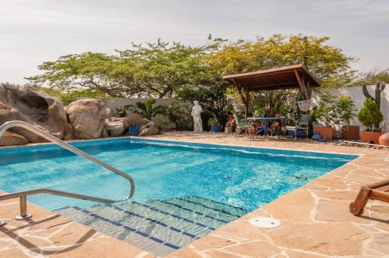 Our Landscaped Pool - Villa Bougainvillea Aruba, the Rumba Suite - Noord - rentals