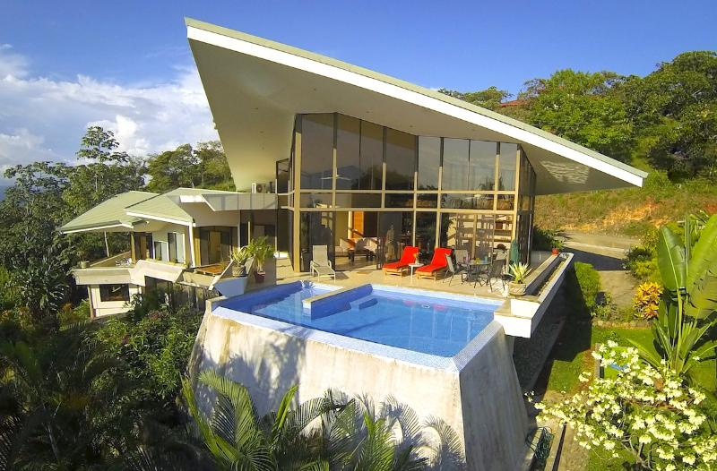 Aerial of Pool - Casa de las Cascadas: 4BR Modern Home w/ 2 Pools! - Manuel Antonio National Park - rentals