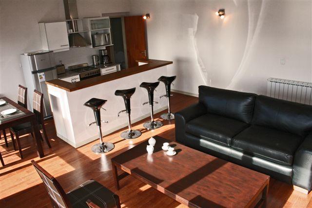 Living - Loft Terrazas III with lake view for 4 persons - San Carlos de Bariloche - rentals